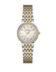 Bulova Diamond Accented Stainless Steel Bracelet Watch Two Tone