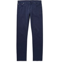 Isaia Slim Fit Denim Jeans Navy