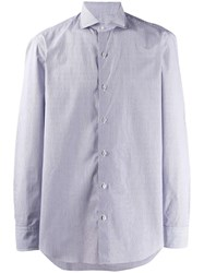 Salvatore Piccolo Long Sleeve Fitted Shirt Blue