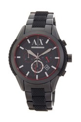 Armani Exchange Men's Quartz Chronograph Bracelet Watch Black
