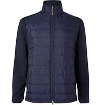 Rlx Ralph Lauren Quilted Shell And Stretch Wool Golf Jacket Navy