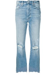 Mother Misbeliever Flared Jeans Blue