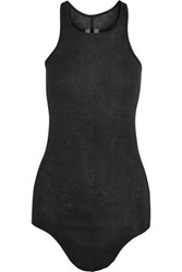 Rick Owens Cotton Jersey Tank Black
