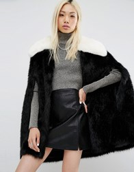 Unreal Fur Majestic Faux Cape Black