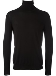 Zanone Turtle Neck Jumper Black