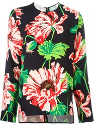 Stella Mccartney Floral Print Top Black