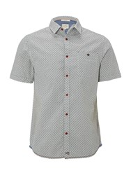 White Stuff Men's Rambling Crosshatch Short Sleeve Shirt Grey