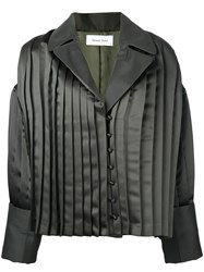 Donnah Mabel Pleated Trim Jacket Green