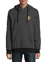 Civil Society Patch Heathered Hoodie Heather Charcoal
