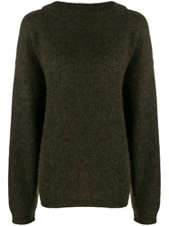 Acne Studios Dramatic Mohair Knitted Sweater Green