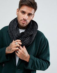 New Look Knitted Snood In Black Black