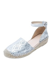 Andre Assous Ingrid Two Piece Closed Toe Flat Espadrilles Silver