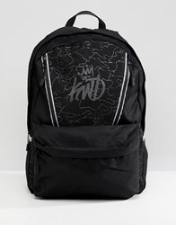 Kings Will Dream Reflective Backpack With Logo In Black