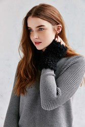 Urban Outfitters Poodle Fingerless Glove Black