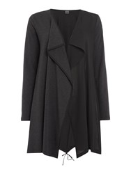 Crea Concept Waterfall Cardigan Charcoal