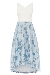 Coast Riri Metallic Roccabella Dress Pastel Blue