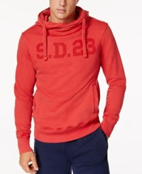 Superdry Men's Solo Sport Hoodie Sunkissed Red