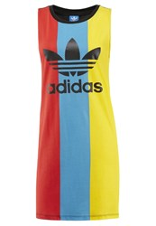 Adidas Originals Trefoil Summer Dress Light Blue Red Yellow