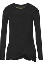 Enza Costa Knotted Jersey Top Black