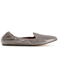 Lanvin Textured Slippers Grey