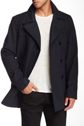 Kenneth Cole Double Breasted Coat Blue