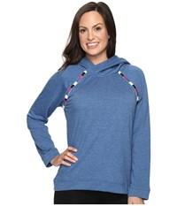 Lucky Brand Luxe Chillin Out Hoodie Denim Blue Women's Pajama