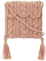 Carrie Forbes Crocheted Youssef Bag Pink