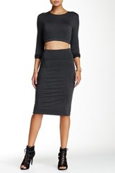 Riller And Fount High Waisted Pencil Skirt Gray