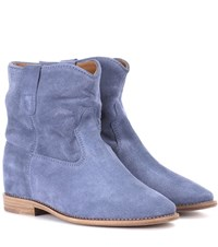 Isabel Marant Crisi Suede Ankle Boots Blue