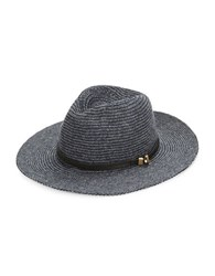 Vince Camuto Wool Blend Panama Hat Navy Blue