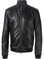 Mauro Grifoni Zipped Leather Jacket Black