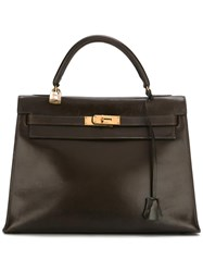 Hermes Vintage 'Kelly' Tote Brown
