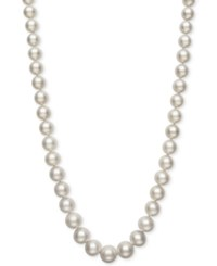 Belle De Mer Cultured Freshwater Pearl 7 1 2 To 11Mm Graduated Pearl Collar Necklace Created For Macy's White