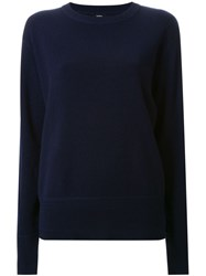 Bassike Elbow Patch Sweater Blue
