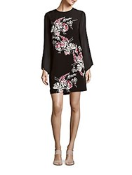 Vince Camuto Floral Long Sleeve Dress Silver Sand