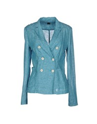 T Jacket By Tonello Suits And Jackets Blazers Women Turquoise