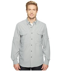 Royal Robbins Expedition Chill Long Sleeve Light Pewter Men's Long Sleeve Button Up Silver