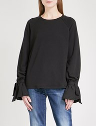 Paige Calandra Cotton Blend Sweatshirt Vintage Black
