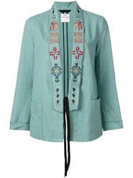 Forte Forte Embroidered Lapel Blazer Blue