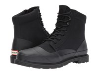 Hunter Original Canvas Lace Up Derby Black Men's Boots