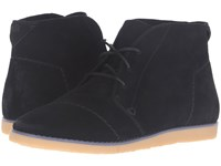 Toms Mateo Chukka Bootie Black Suede Women's Lace Up Boots