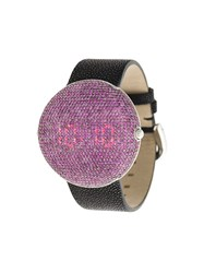 Christian Koban Clou Pink Sapphire Watch Stingray Sapphire Stainless Steel Black