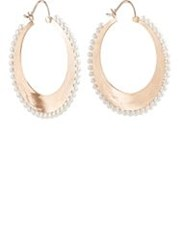 Irene Neuwirth Women's Akoya Pearl And Rose Gold Hoop Earrings Colorless