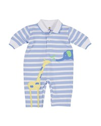 Florence Eiseman Elephant And Giraffe Striped Polo Coverall Size 3 12 Months Multi