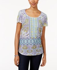 Styleandco. Style Co. Petite Printed T Shirt Only At Macy's Maritime Rhythm