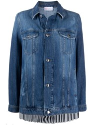 Red Valentino Pleated Back Denim Jacket 60