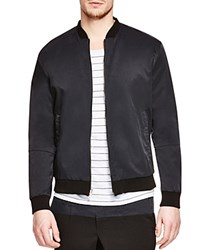 Vince Reversible Wool Bomber Jacket H Steel Black