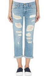 Nsf Straight Slouch Distressed Jeans Blue