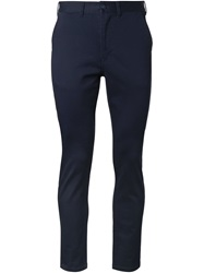 Fadeless Cropped Chino Trousers Blue