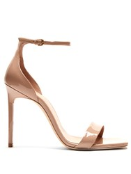 Saint Laurent Amber Patent Leather Sandals Nude